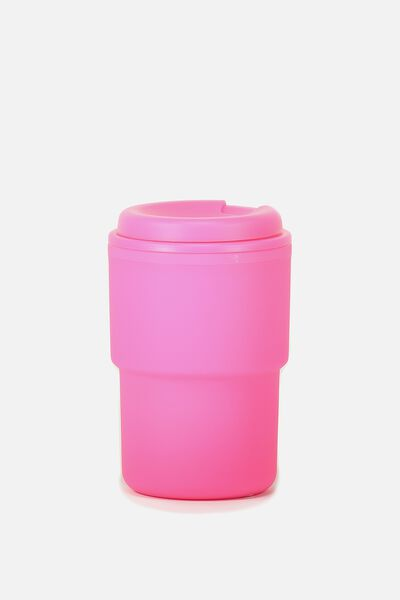 Reuse Me Coffee Cup, PINK RUBBER