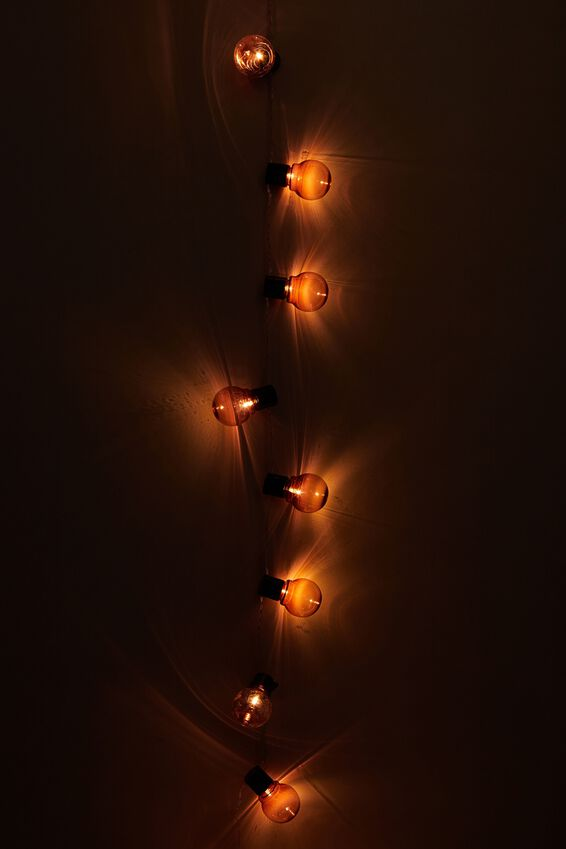 Festoon String Light, PINK BULBS