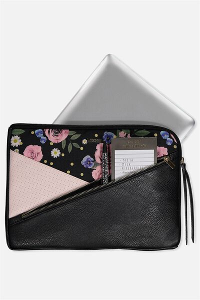 "Premium Laptop Case 13"", POLKA FLORAL"