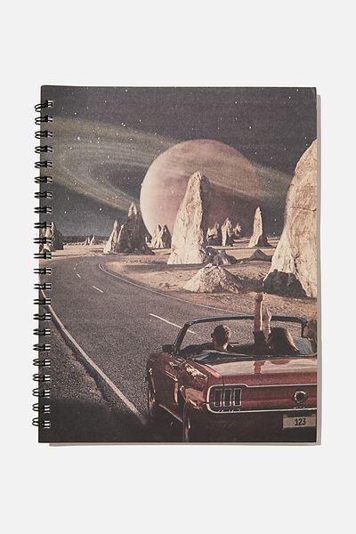 A4 Campus Notebook Recycled, PLANET CAR RIDE