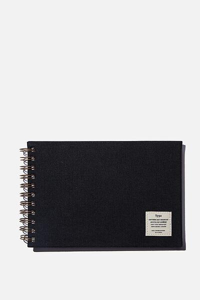 A5 Spiral Sketch Book, BLACK