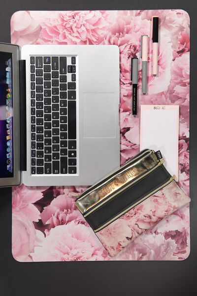 A2 Jumbo Mouse Pad, DUSTY PINK FLORAL