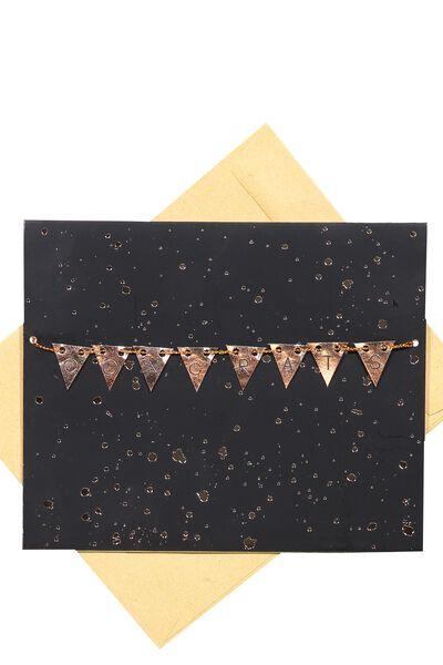 Premium Congratulations Card, BUNTING CONGRATS SPLATTER