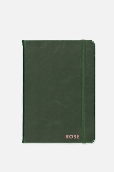 Personalised A5 Buffalo Journal, DEEP GREEN