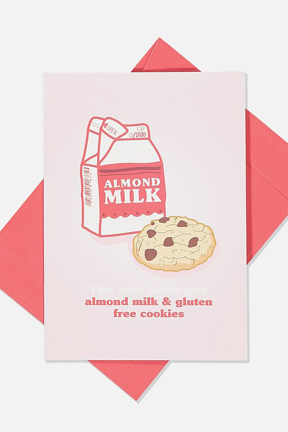 Christmas Card, ALMOND MILK & COOKIES