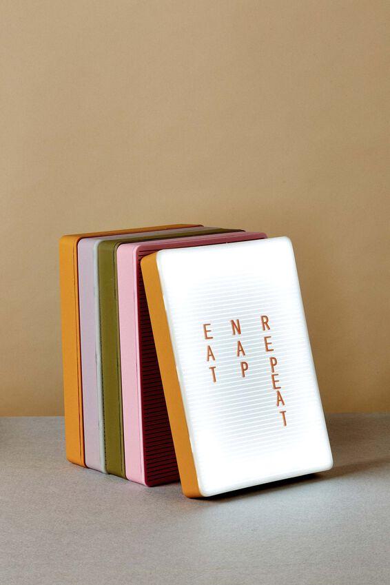 PegBoard Light Box, MUSTARD & PEACH
