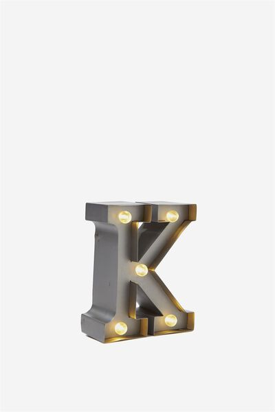 Mini Marquee Letter Lights 10cm, SILVER K