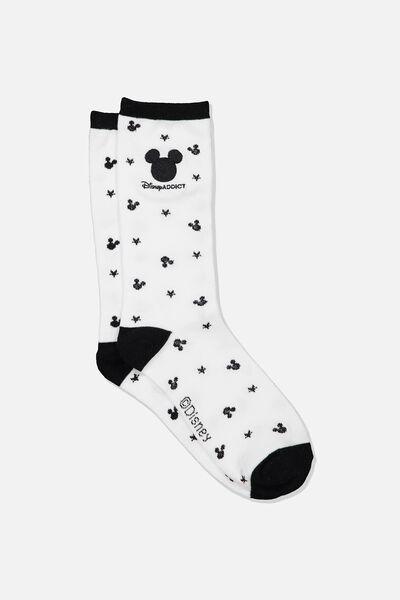 Womens Novelty Socks, LCN DIS MICKEY FACES