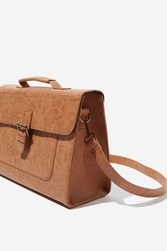 Nuevo Satchel Bag, MID TAN