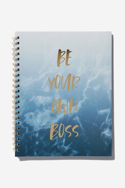A4 Campus Notebook Recycled, BE YOUR OWN BOSS MARBLE