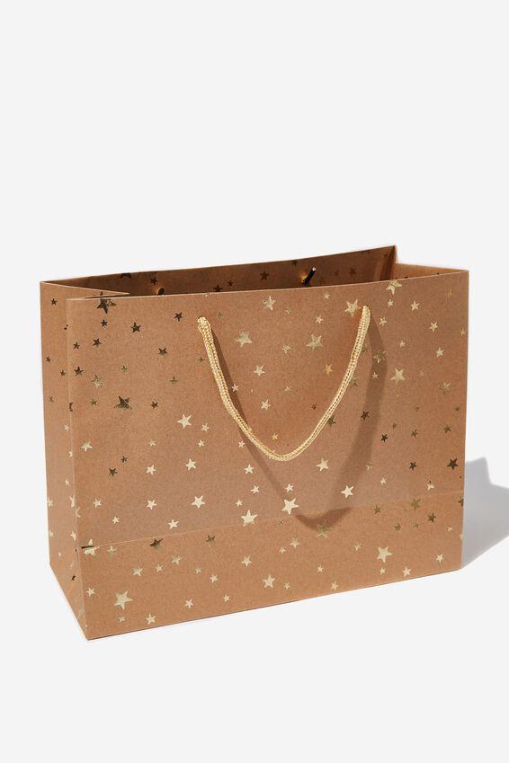 Stuff It Gift Bag - Medium, CRAFT GOLD STARS
