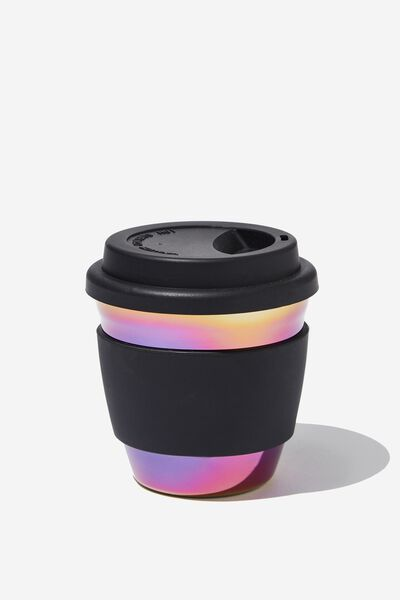 All Day Travel Cup 8Oz, BLACK OIL SPILL