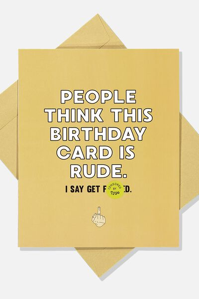Funny Birthday Card, THIS BIRTHDAY CARD IS RUDE!!