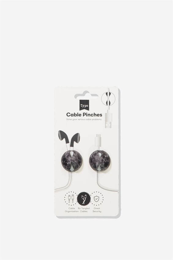 Cable Pinch 2 Pack, BLACK MARBLE