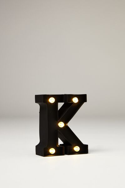 Mini Marquee Letter Lights 10cm, BLACK RUBBER K
