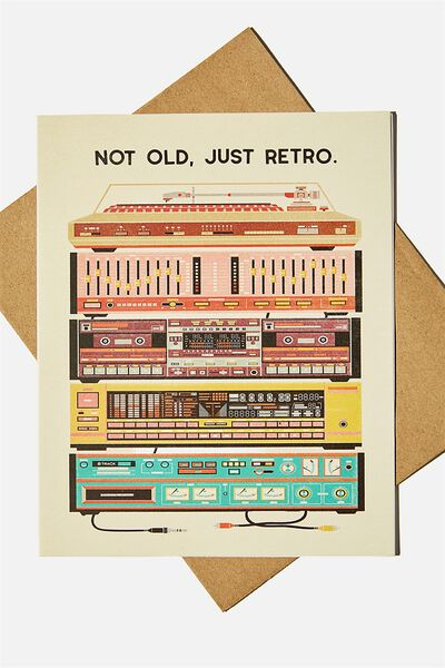 Nice Birthday Card, NOT OLD JUST RETRO