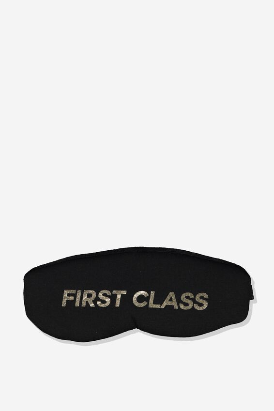 Total Block Out Eyemask, FIRST CLASS BLACK