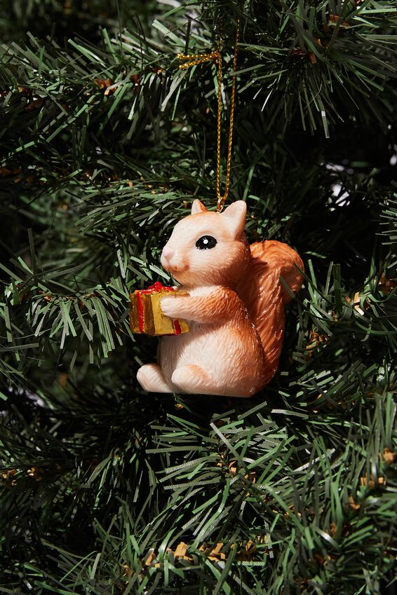 Resin Christmas Ornament, CHRISTMAS SQUIRREL