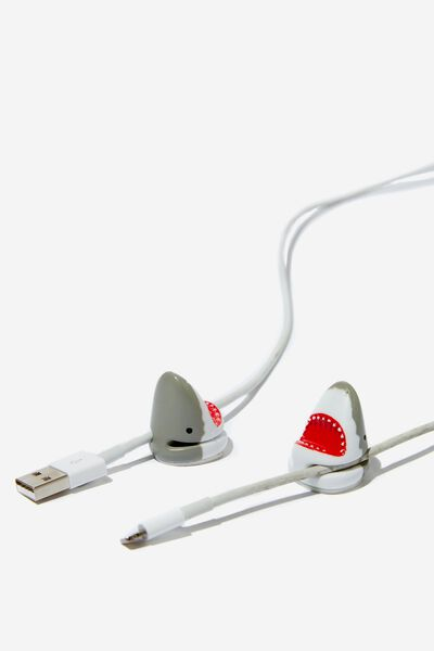 Novelty Cable Pinch 2 Pack, SHARK