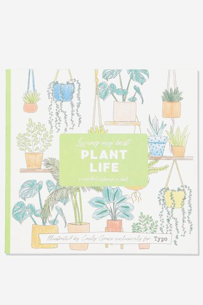 Between The Lines Colouring Book, PLANT LIFE