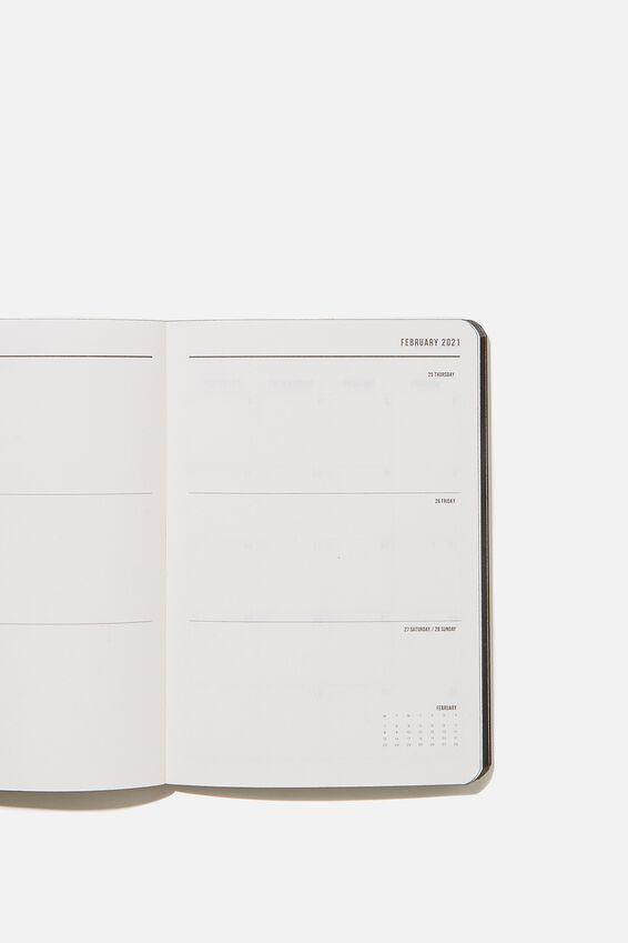 2021 Soft A6 Weekly Buffalo Diary, BLACK