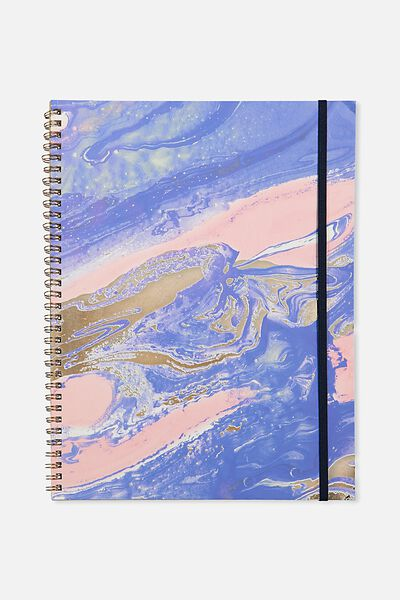 A4 Spinout Notebook - 120 Pages, MARBLE SWIRL