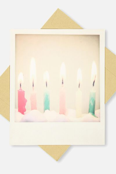 Snap Happy Birthday Card, BL-CANDLE