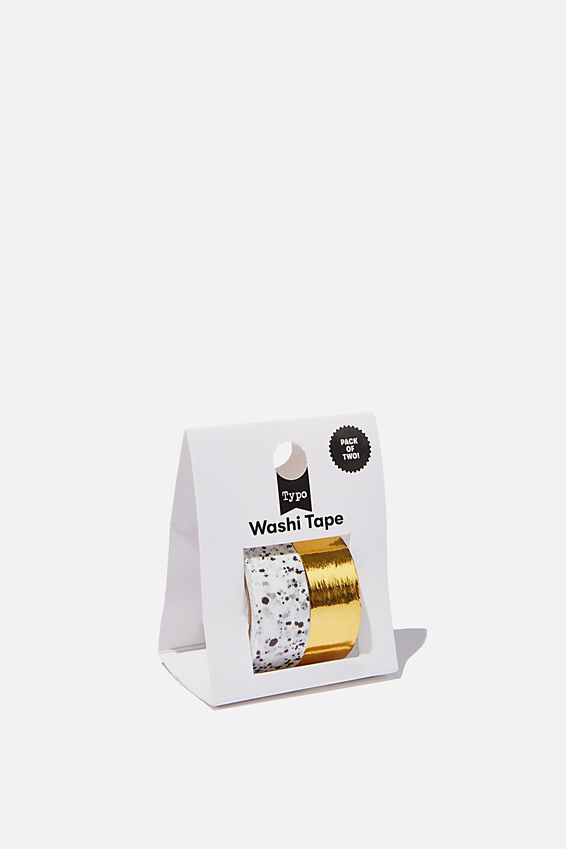 Washi Tape 2Pk, SPLATTER & GOLD