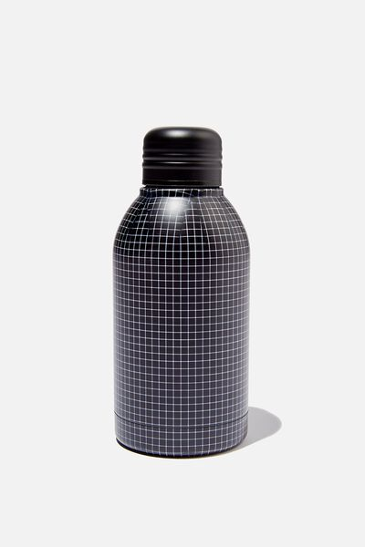 Mini Metal Drink Bottle, GRID CHECK