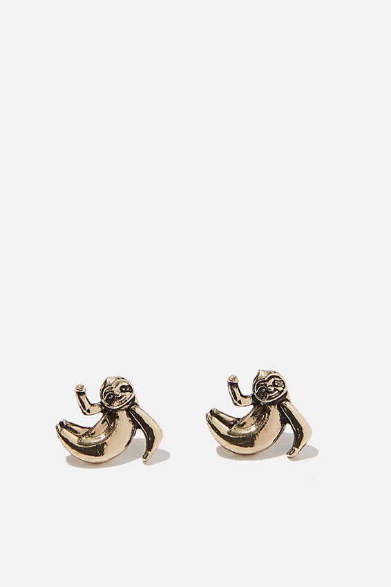 Novelty Earrings, HANGING SLOTH