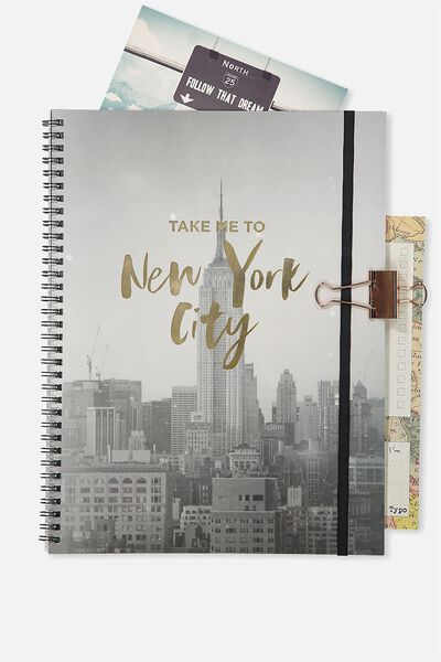 A4 Spinout Notebook - 120 Pages, NYC TAKE ME