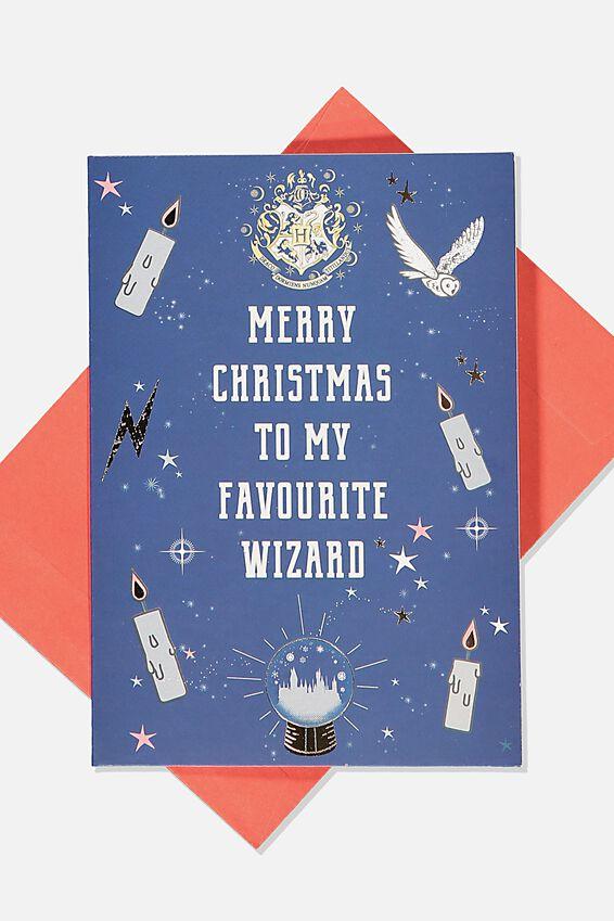 Harry Potter Christmas Card 2019, LCN WB FAV MUGGLE HP