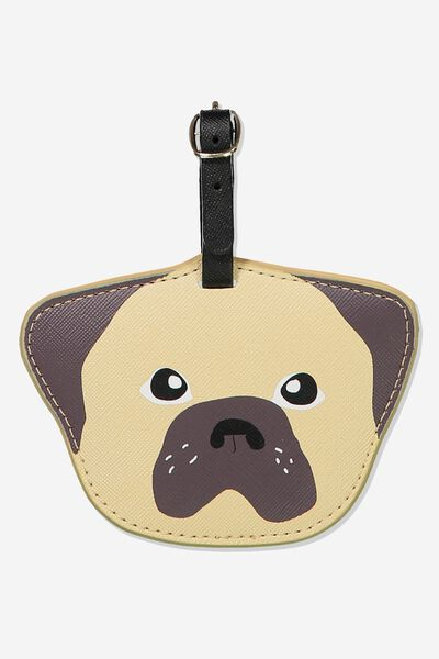 Shape Shifter Luggage Tag, NUEVO PUG FACE