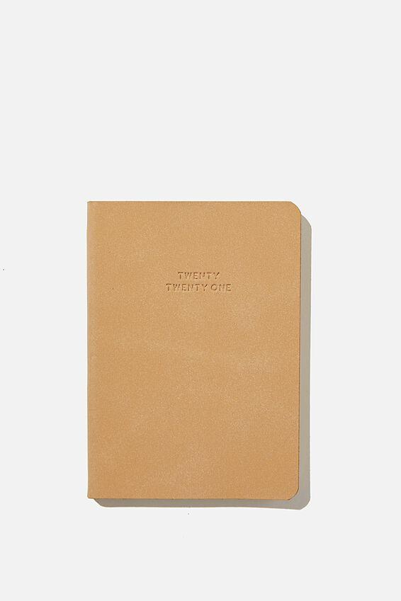 2021 Soft A6 Weekly Buffalo Diary, DRIFTWOOD