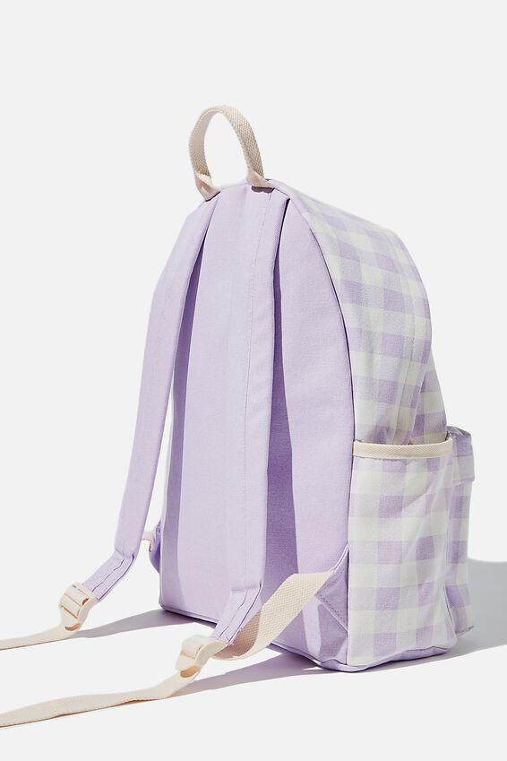 Fundamental Backpack, GINGHAM PALE LILAC
