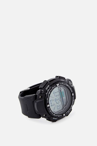 Retro Watch, BLACK