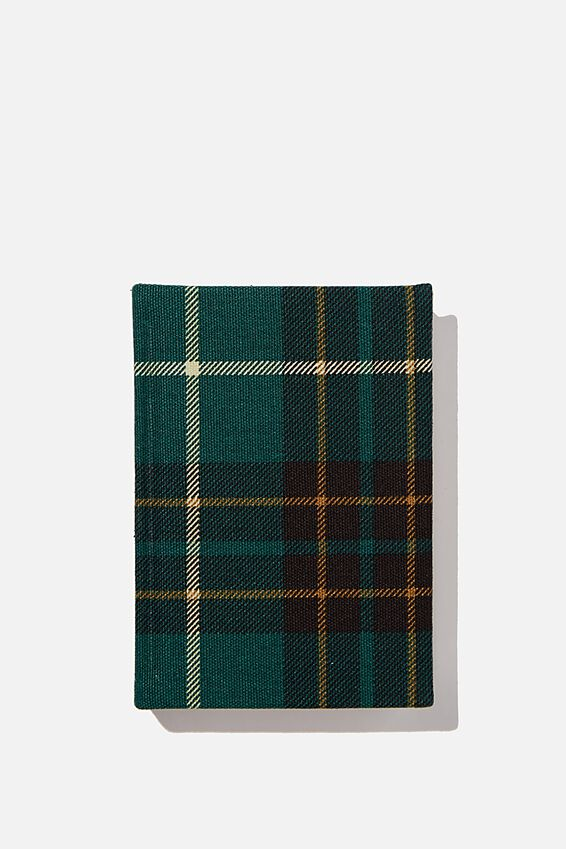 2021 A6 Oxford Daily Diary, FLANNO GREEN CHECK