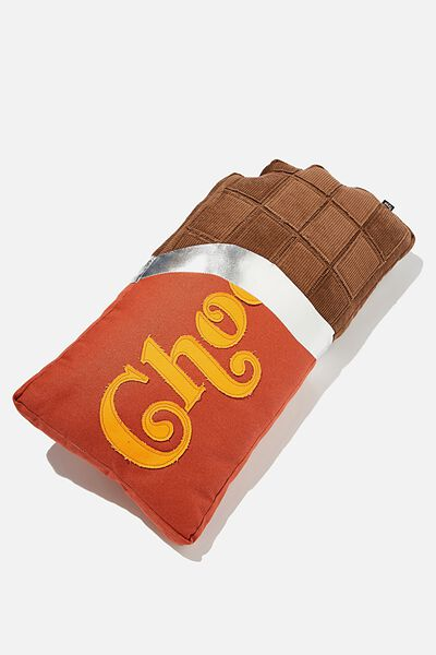 Canvas Cushy Cushion, CHOCOLATE BAR
