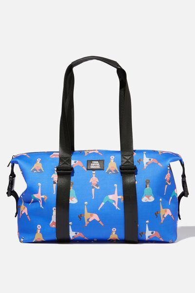 Neoprene Active Duffle Bag, YOGA GIRLS PRINT