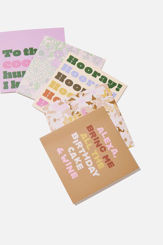 Card Set 10 Pack, FASHION ILLO PRINTS