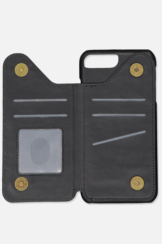 Cardholder Phone Case 6, 7, 8 Plus, BLACK