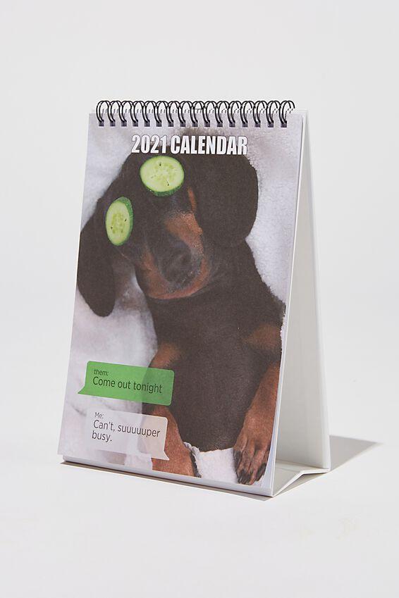 2021 Get A Date Flip Calendar, DOG MEMES