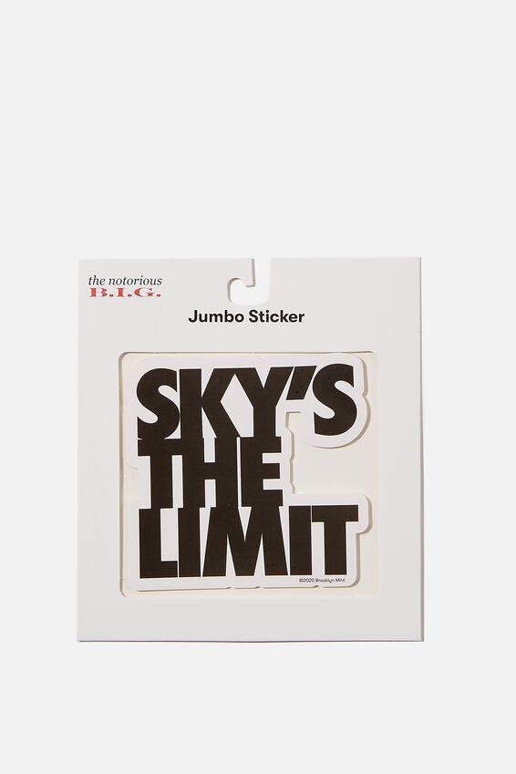 Biggie Smalls Jumbo Sticker, LCN MT BIG LIMIT