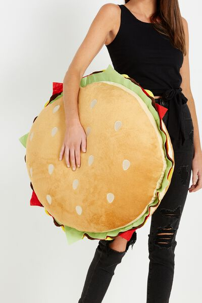 Large Get Cushy Cushion, BURGER