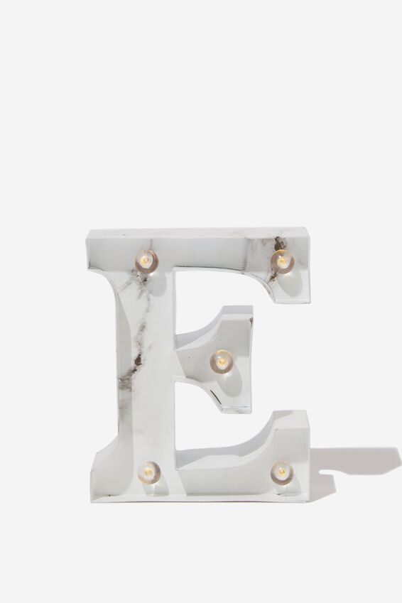 Mini Marquee Letter Lights 10cm, MARBLE E