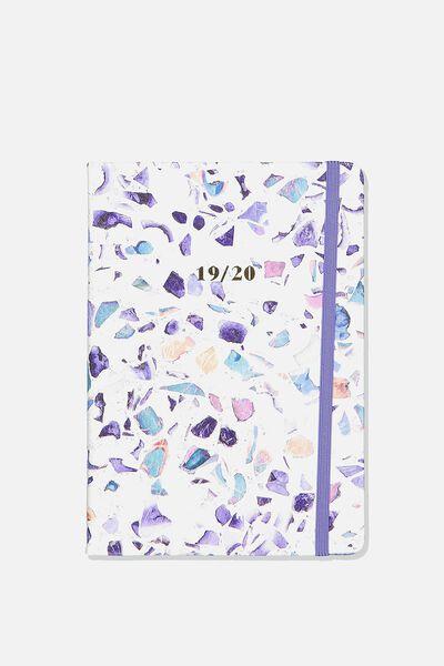 2019 20 A5 Weekly Buffalo Diary, TERRAZZO