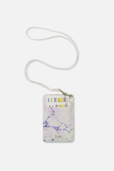 Printed Card Holder, LUSH MARBLE