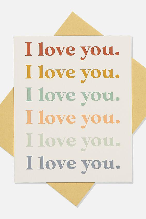 Love Card, I LOVE YOU REPEAT