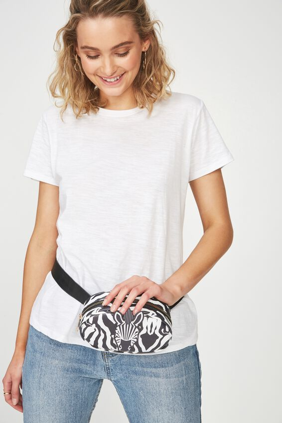 Belt Bag, NOVELTY ZEBRA