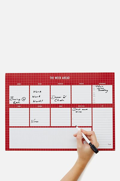A3 Magnetic Planner, THE WEEK AHEAD